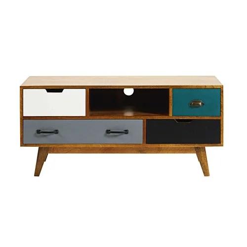 Dai un'occhiata ai nostri mobili e oggetti decorativi e fai i pieno di ispirazione! 4 Drawer Solid Mango Wood Tv Unit Picadilly Maisons Du Monde