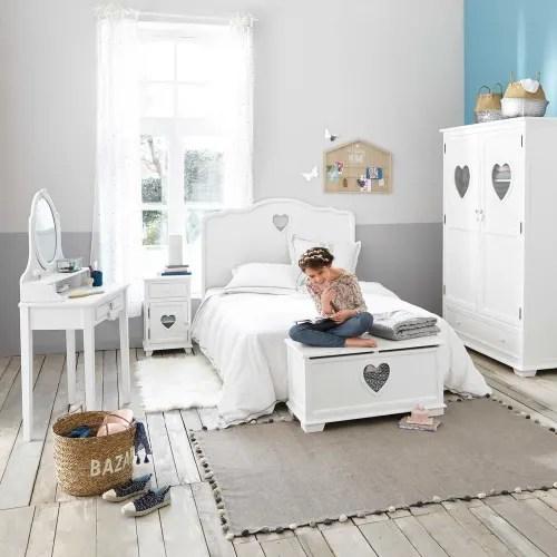 In foto il lettino per neonato. Armadio Bianco 2 Ante E 1 Cassetto Valentine Maisons Du Monde