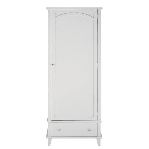 armoire bonnetiere 1 porte 1 tiroir grise maisons du monde