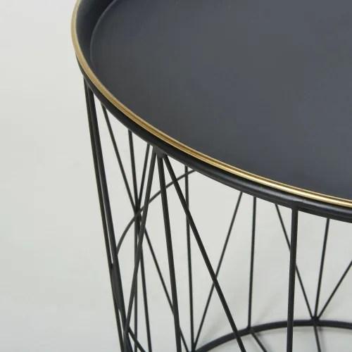 black metal wire side table maisons du monde