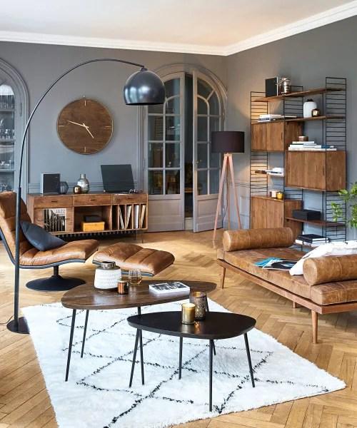 buffet meuble a vinyles en acacia massif maisons du monde