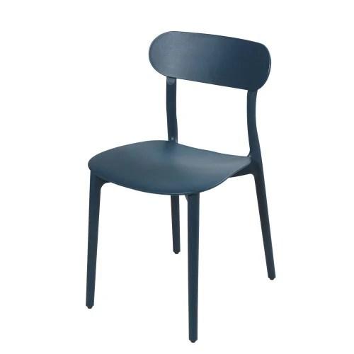 chaise bleu petrole maisons du monde
