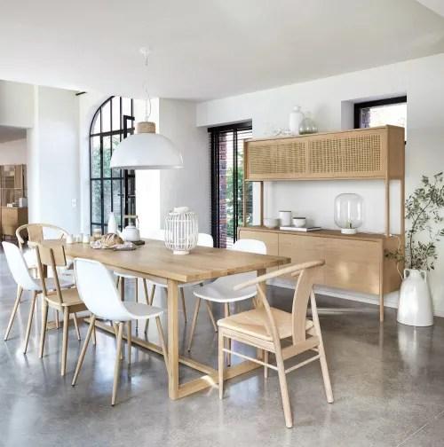 chaise contemporaine blanche maisons du monde
