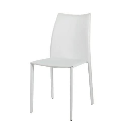 chaise en synderme blanc maisons du monde