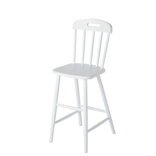 chaise enfant haute vintage en hetre blanc maisons du monde