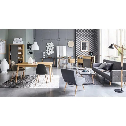 chaise style scandinave gris anthracite maisons du monde