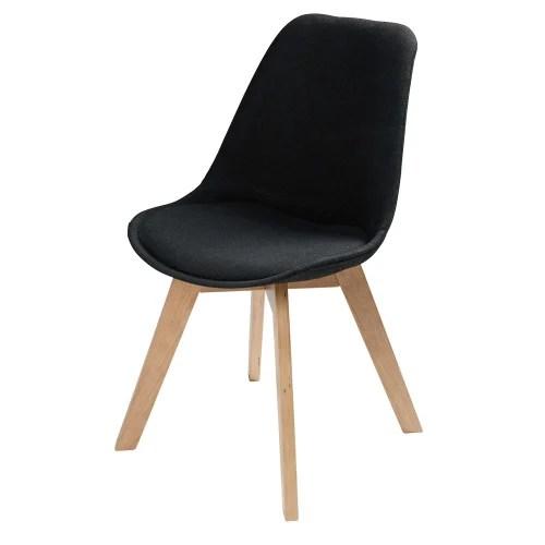chaise style scandinave noire maisons du monde