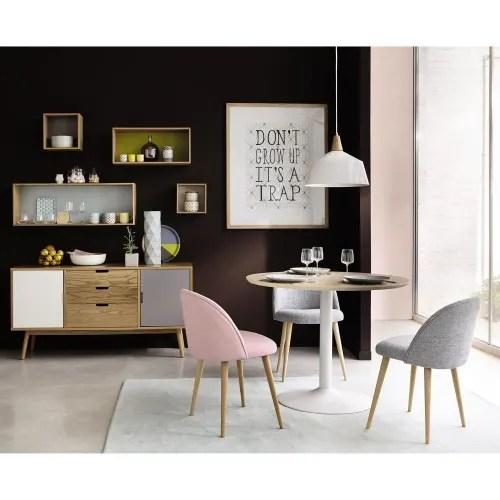 chaise vintage rose et bouleau massif maisons du monde