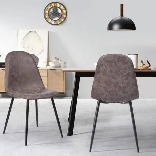 chaises style scandinave marron vieilli x4 maisons du monde