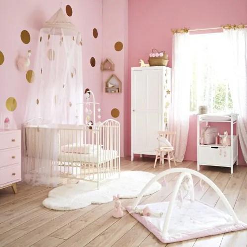 ciel de lit enfant blanc et dore maisons du monde
