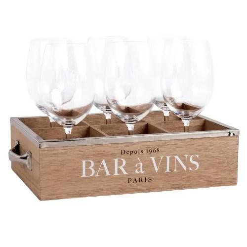 coffret 6 verres a vin maisons du monde