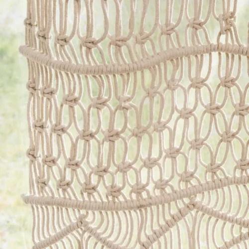 cortina de macrame de algodon crudo 105x250 la unidad maisons du monde
