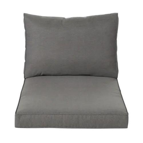 coussins pour fauteuil de jardin gris fonce maisons du monde