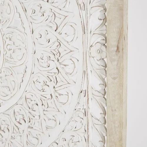 Se è vero che la casa deve rinnovarsi nell'arredamento, magari con un bel divano nuovo o un tavolino glamour, così come nei tessuti, con tende, tappeti e cuscini, è anche vero che altresì le decorazioni fanno la loro parte. Decorazione Da Parete In Legno Di Mango Motivo Mandala Scolpito Bianco 110x110 Cm Araya Maisons Du Monde