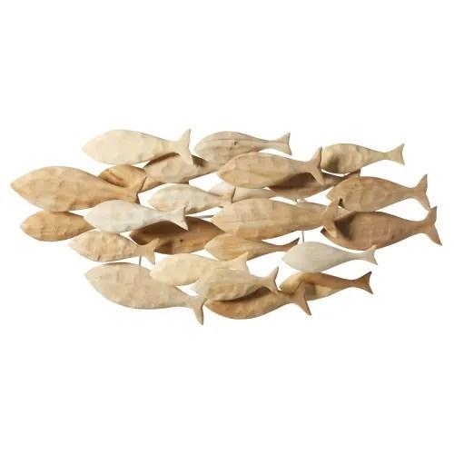 Scegli la consegna gratis per. Decorazione Da Parete Pesci In Albizzia 104x49 Cm Mascate Maisons Du Monde