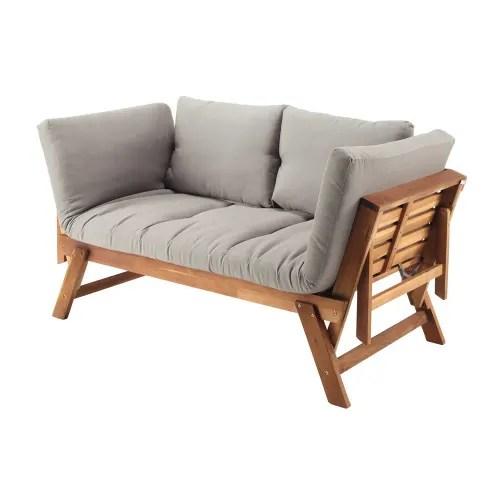 Dai un'occhiata ai nostri mobili e oggetti decorativi e fai i pieno di. Divanetto Da Giardino Modulabile In Acacia 3 Posti E Cuscini Tortora Relax Maisons Du Monde