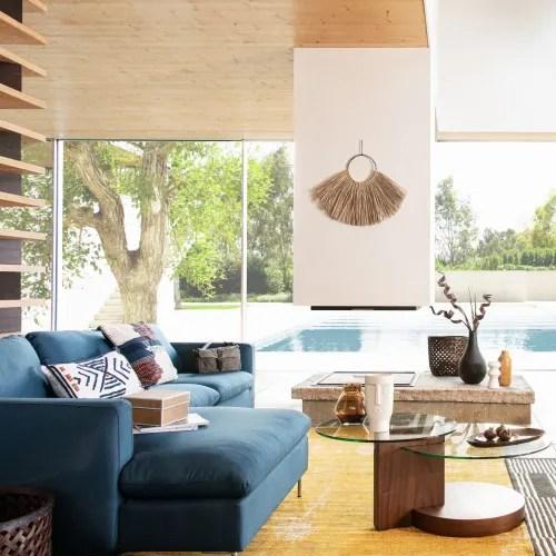 Maisons du monde divani in vendita in arredamento e casalinghi: Divani Angolari Sinistro Blu Notte In Tessuto 5 Posti City Maisons Du Monde
