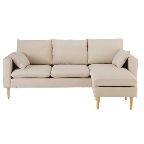 Dai un'occhiata ai nostri mobili e oggetti decorativi e fai i pieno di ispirazione! Divano Ad Angolo 3 4 Posti Beige Joey Maisons Du Monde