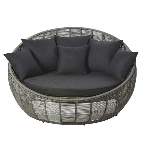 Trova una vasta selezione di maison du monde a divani a prezzi vantaggiosi su ebay. Divano Da Giardino 3 Posti In Resina Intrecciata Grigio Tamarin Maisons Du Monde