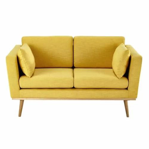 Dai un'occhiata ai nostri mobili e oggetti decorativi e fai i pieno di ispirazione! Divano Giallo 2 Posti Timeo Maisons Du Monde