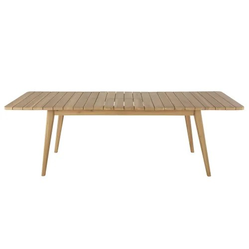extendable solid acacia 8 10 seater garden table l180 240 maisons du monde