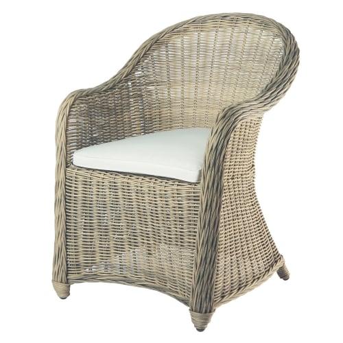 fauteuil de jardin en resine tressee maisons du monde