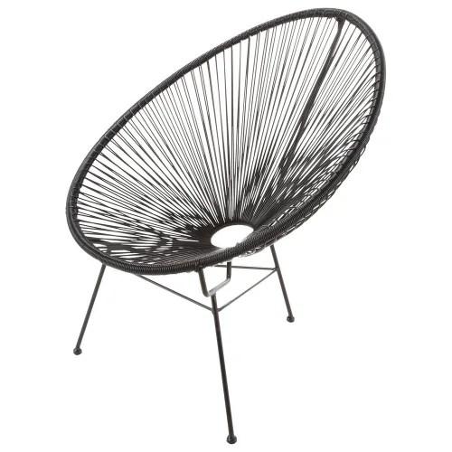 fauteuil de jardin rond noir maisons du monde
