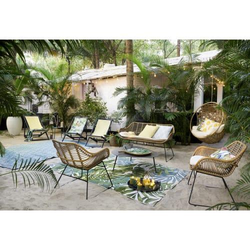 fauteuil de jardin vintage en resine maisons du monde