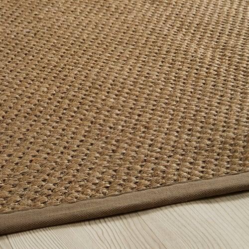 flechtteppich aus sisal beige 200x300 maisons du monde