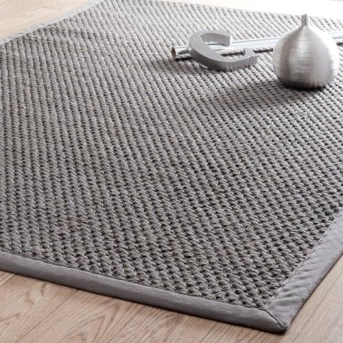 flechtteppich aus sisal grau 200x300 maisons du monde