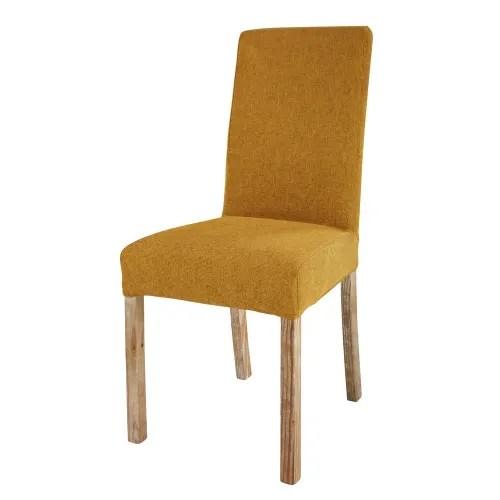 sedie classiche artigianali italiane per ogni zona della casa: Fodera Color Ocra In Tessuto Per Sedia Margaux Maisons Du Monde