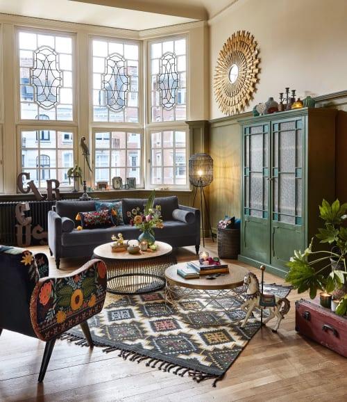 gold metal and aluminium coffee table maisons du monde
