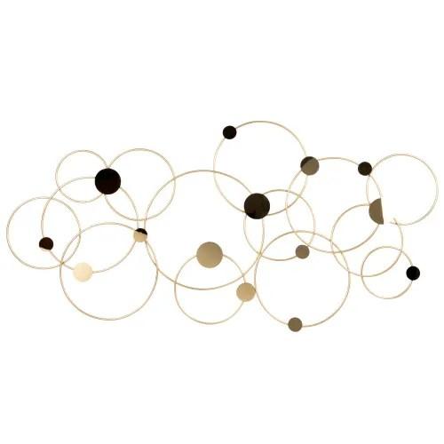 Per la decorazione di una camera da bambino, maisons du monde ti propone un'ampia scelta di stickers e decorazioni murali: Gold Metal Circles Wall Art 90x45cm Evana Maisons Du Monde