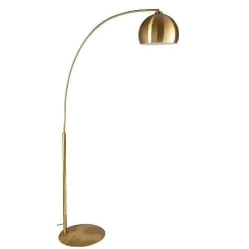 Lampadaire en métal doré H.206cm Gold Sphere
