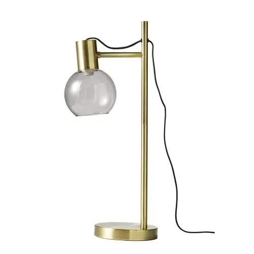 Lampe en métal doré et verre fumé Vinity