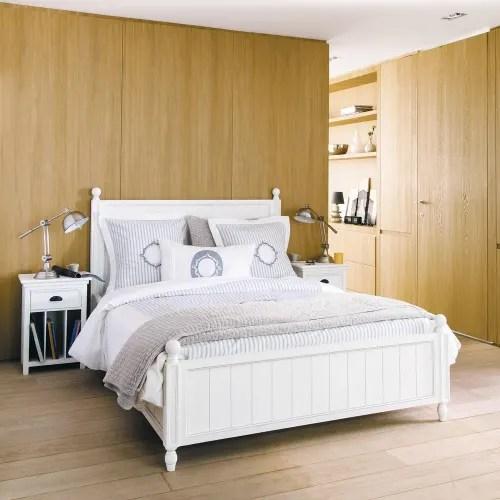 lit 140x190 en pin blanc maisons du monde
