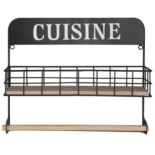 Visualizza altre idee su mobili, arredamento, sedie d'epoca. Mensola Nera Portarotolo In Metallo Cuisine Maisons Du Monde