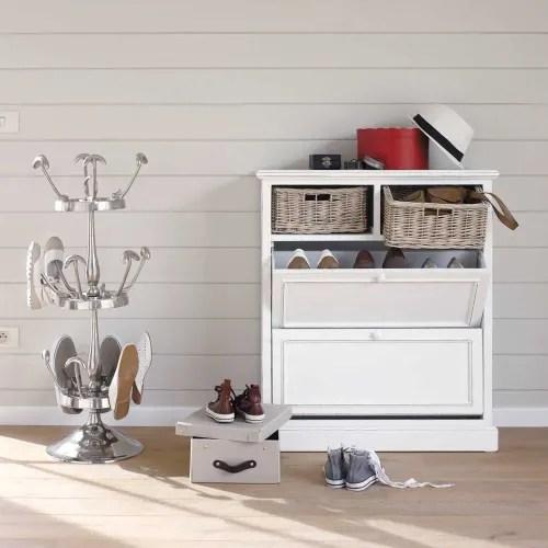 meuble a chaussures blanc l 80 cm maisons du monde