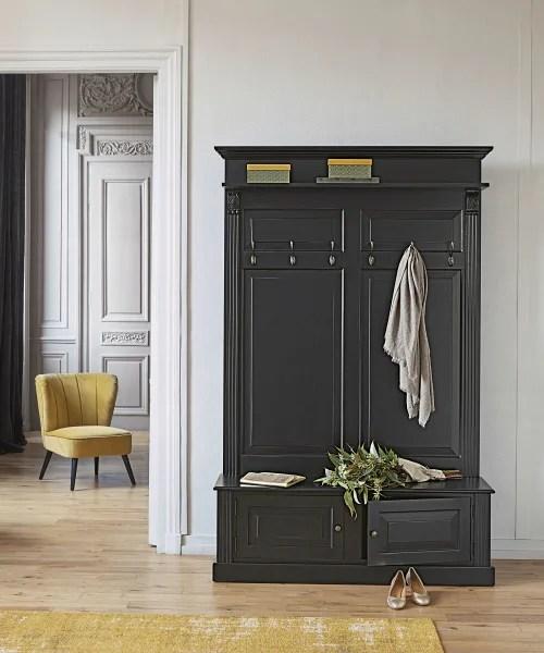 meuble d entree 2 portes noir maisons du monde
