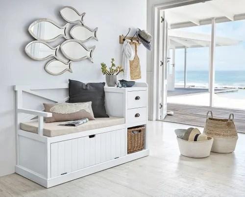 meuble d entree blanc maisons du monde