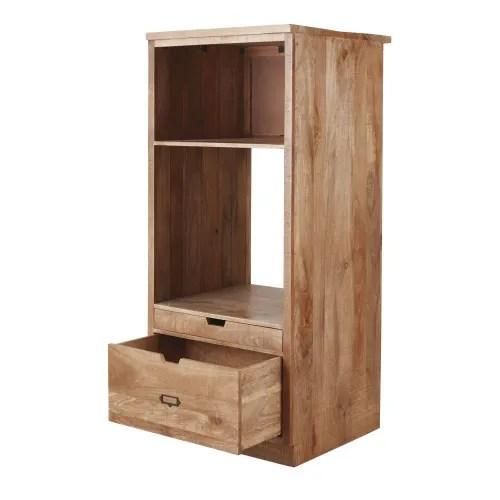 meuble de cuisine colonne four 2 tiroirs en manguier massif maisons du monde