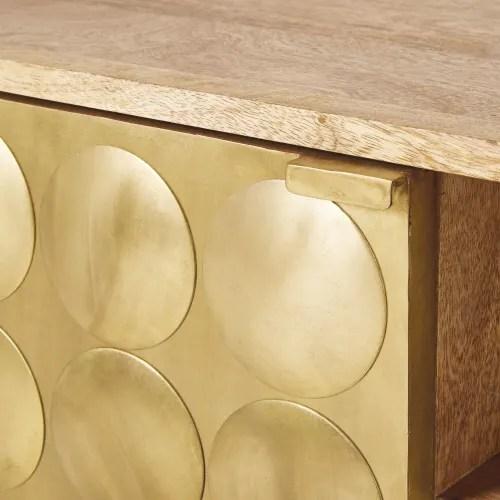 meuble tv 2 portes vintage en manguier massif maisons du monde