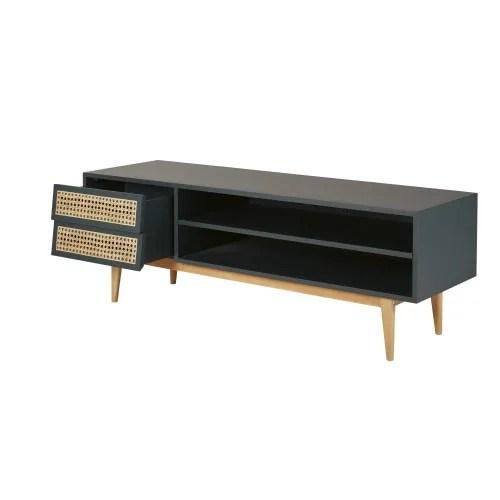 meuble tv vintage 2 tiroirs vert de gris maisons du monde