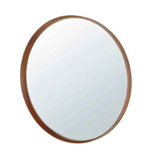 miroir rond en hetre d120 maisons du monde