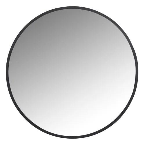 miroir rond en metal noir d60 maisons du monde