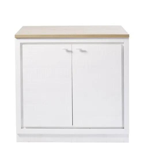 Collezioni di mobili da cucina. Mobile Basso Da Cucina A 2 Ante Bianco Embrun Maisons Du Monde