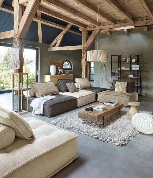 modulare sessel ohne armlehnen fur sofa sandfarben maisons du monde