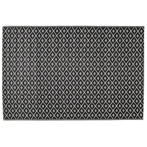 outdoor teppich aus kunststoff 120x180 schwarz weiss maisons du monde