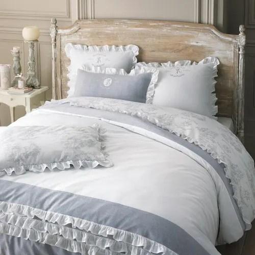 Dai un'occhiata ai nostri mobili e oggetti decorativi e fai i pieno di. Parure Da Letto 240 X 260 Cm Bianca In Cotone Raphael Maisons Du Monde