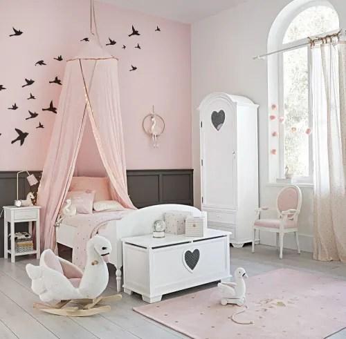 Crea la zona notte dei loro sogni con un letto,. Parure Da Letto Per Bambini Rosa In Cotone Stampato 140x200 Cm Lilly Maisons Du Monde